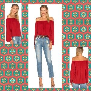 Cloth & Stone Off The Shoulder Long Sleeve Top